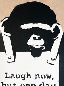 BANKSY (after) 'Laugh Now' (brown) Screen Print (45)