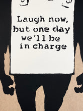 Load image into Gallery viewer, BANKSY (after) 'Laugh Now' (brown) Screen Print (45)