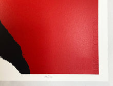 Load image into Gallery viewer, BANKSY (after) 'Love is in the Air' (red) Screen Print (99)