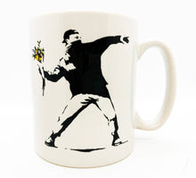 Load image into Gallery viewer, BANKSY (after) x MOCO 'Flower Thrower' Ceramic Mug