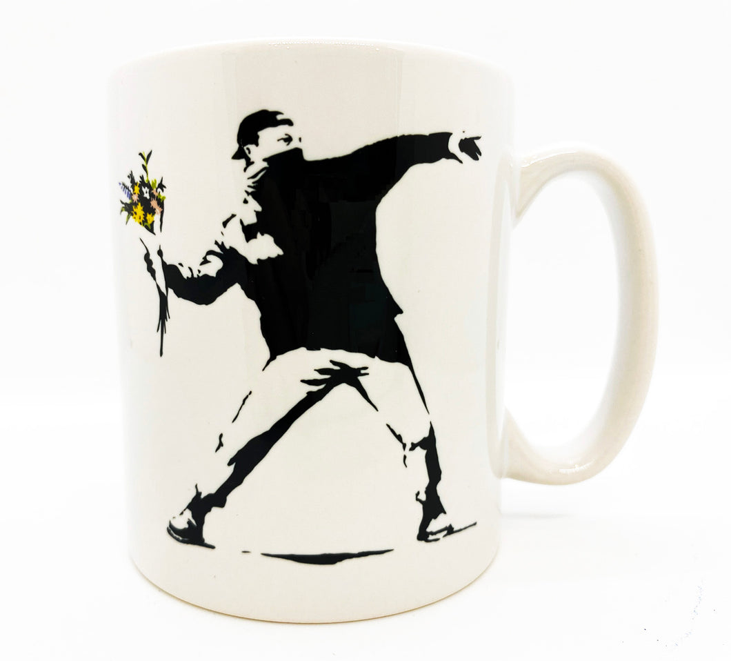 BANKSY (after) x MOCO 'Flower Thrower' Ceramic Mug