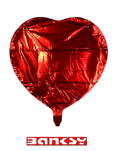 BANKSY (after) x MOCO 'Heart' Mylar Balloon