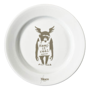 BANKSY (after) x MOCO 'Keep it Real' Ceramic Plate