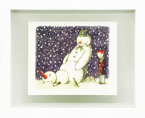 BANKSY 'Rude Snowman' Santa's Ghetto Christmas Card Framed