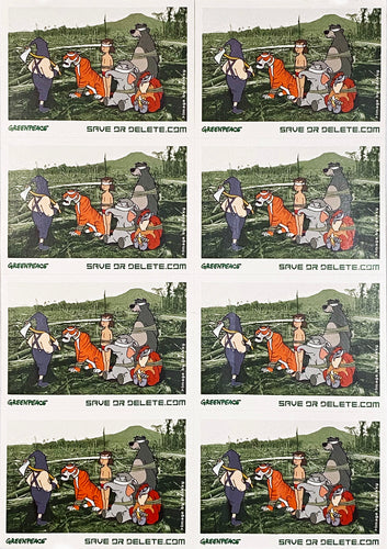 BANKSY 'Save or Delete' Greenpeace Campaign Decal (Full Sheet)