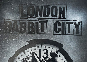 BENJAMIN IRRITANT 'Rabbit City' Spray + Screen Print