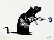 Load image into Gallery viewer, BLEK LE RAT 'The Warrior' (blue) Screen Print - Signari Gallery