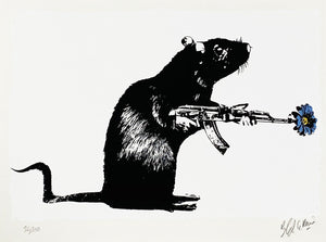 BLEK LE RAT 'The Warrior' (blue) Screen Print - Signari Gallery