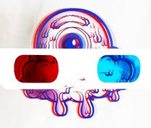 Load image into Gallery viewer, BUFF MONSTER 'Happy (3D)' Print on Die-Cut Wood