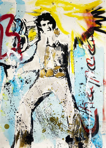 CHAPEAU 'Elvis' Original Mixed Media on Paper (2)