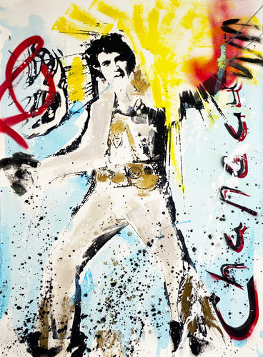 CHAPEAU 'Elvis' Original Mixed Media on Paper (3)