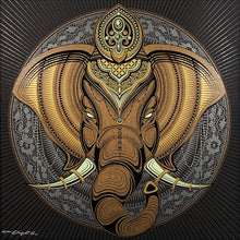 Load image into Gallery viewer, CHRIS SAUNDERS 'Elephant Mandala' Screen Print - Signari Gallery