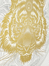 Load image into Gallery viewer, CHRIS SAUNDERS 'White Tiger Mandala' Screen Print - Signari Gallery