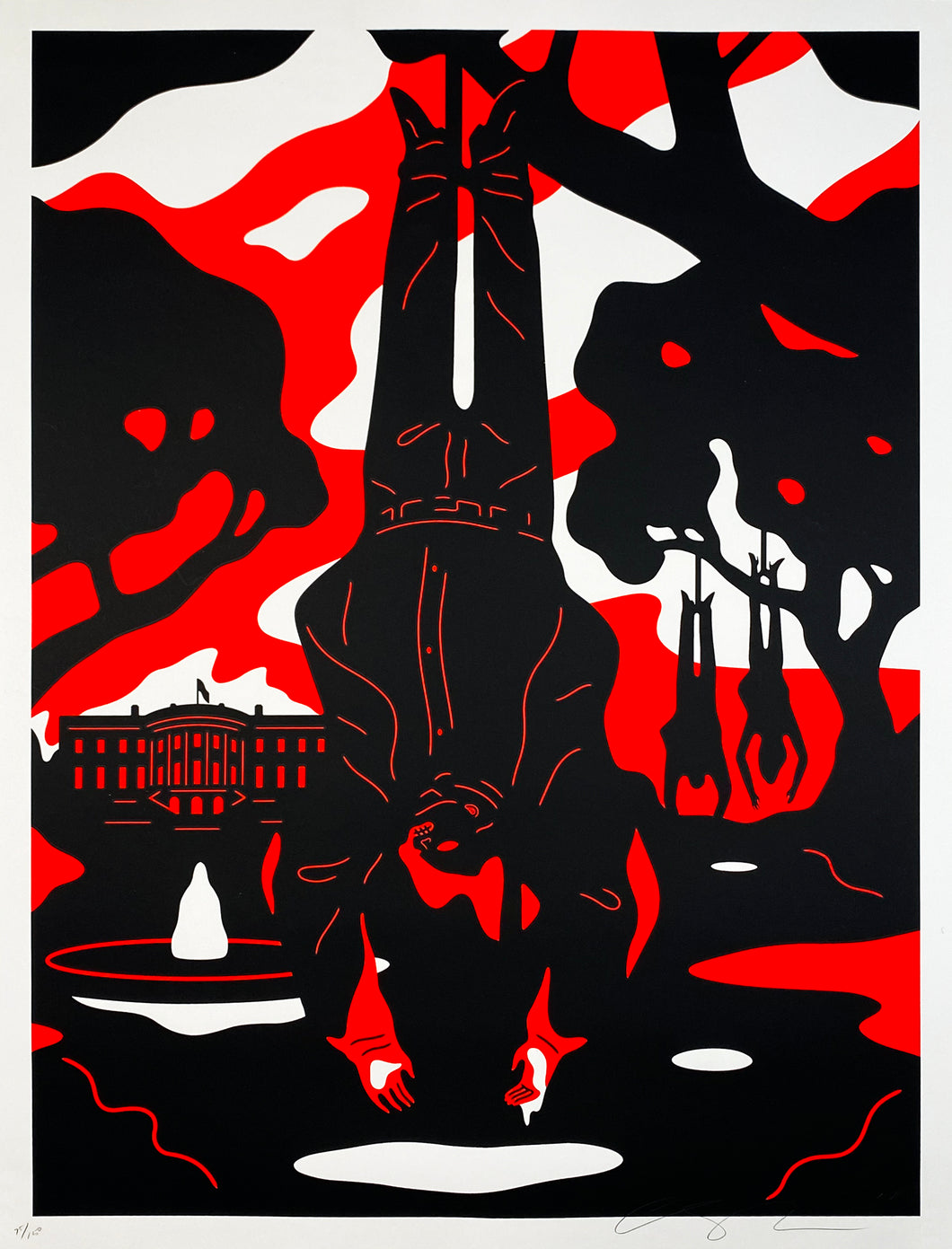 CLEON PETERSON 'Absolute Power' (anti-Trump) Silkscreen Print (2/2) - Signari Gallery