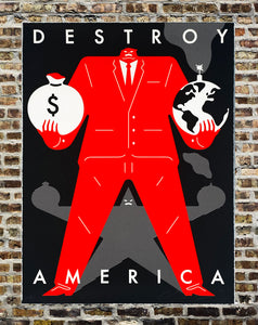 CLEON PETERSON 'Destroy America' (black) Screen Print