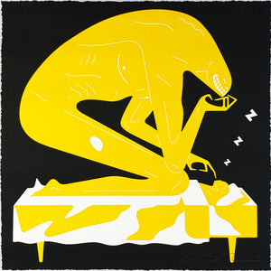 CLEON PETERSON 'The Nightmare' (black) Screen Print