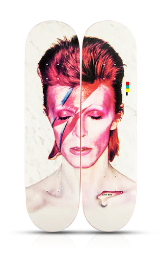COLOR BARS x DAVID BOWIE 'Aladdin Sane' Diptych Skateboard Set