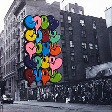 Load image into Gallery viewer, COPE2 x MONICA ALONSO 'Building Strong' Hand-Embellished Print Framed