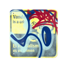 Load image into Gallery viewer, COPE2 'Vandalism es un Crimen' Original on Street Sign
