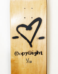 COPYRIGHT 'Untitled' Original Skateboard Deck HPM - Signari Gallery