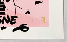 Load image into Gallery viewer, DS 'Miley's Smash Hits' (pink) Hand-Finished Silkscreen Print