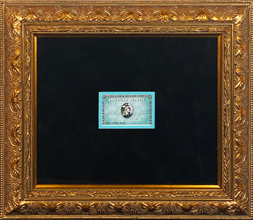 D*FACE x BANKSY 'American Depress' Dismaland Faux Credit Card Framed