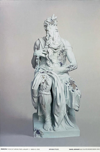 DANIEL ARSHAM 'Blue Calcite Eroded Moses' Offset Lithograph