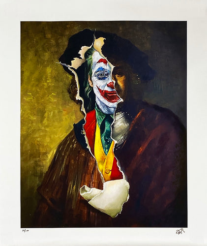 DAVE POLLOT 'The Comedy of Tragedy' (Joker) Giclée on Canvas