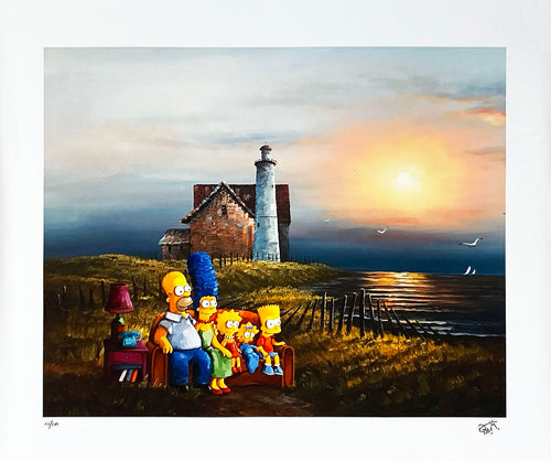 DAVE POLLOT 'Inside Out and Backwards' (Simpsons) Giclée on Canvas