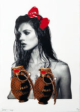 Load image into Gallery viewer, DEATH NYC 'Kate with Grenades' (brown) Lithograph Print - Signari Gallery