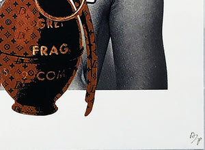 DEATH NYC 'Kate with Grenades' (brown) Lithograph Print - Signari Gallery