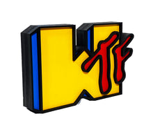 Load image into Gallery viewer, DENIAL 'WTF' Hand-Painted Woodcut Art Sculpture - Signari Gallery