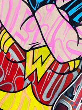Load image into Gallery viewer, DOPEDOUT M 'Wonder Woman: Only Love...' Original on Canvas