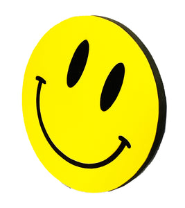 DR. D 'Acid House Smiley: Governor' Hand-Painted Woodcut