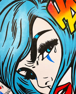 DVERSO 'Joker: Laugh or Cry' Original on Canvas Framed - Signari Gallery