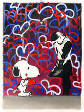 Load image into Gallery viewer, DVERSO 'Sad Balloon Girl' (w/Snoopy) Original on Canvas