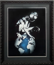 Load image into Gallery viewer, EYESAW 'Golem in Gas Mask' HPM on Paper Framed - Signari Gallery