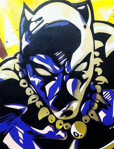 FUR 'Wakanda Forever XXL' Original Mixed-Media on Canvas