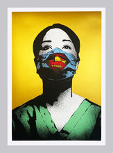 Load image into Gallery viewer, FAKE 'Super Nurse (Super Size)' (gold) Screen Print