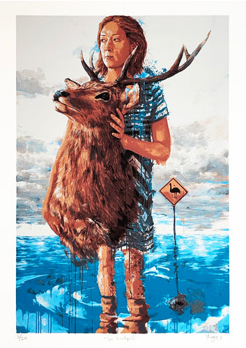 FINTAN MAGEE 'The Road Kill' Hand-Finished Serigraph Print - Signari Gallery