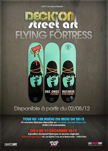 FLYING FORTRESS 'Die Drei Räuber' Skateboard Deck Triptych Set