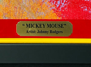 GAIL (Johnny) RODGERS 'Mickey Mouse' Original on Canvas Framed