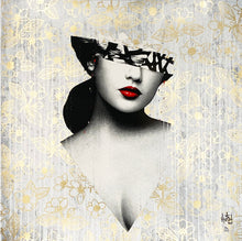 Load image into Gallery viewer, HUSH 'Le Buste III' (gold) Varnished Screen Print