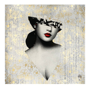 HUSH 'Le Buste III' (gold) Varnished Screen Print