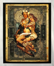 Load image into Gallery viewer, HANDIEDAN 'Amphitrite' Giclee Print + Skateboard Deck Framed