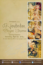 Load image into Gallery viewer, HANDIEDAN 'Elegant Universe' Signed Gallery Show Card - Signari Gallery