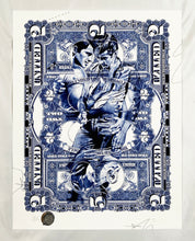 Load image into Gallery viewer, HANDIEDAN 'In the Treasure of Time' (blue) Giclée Print