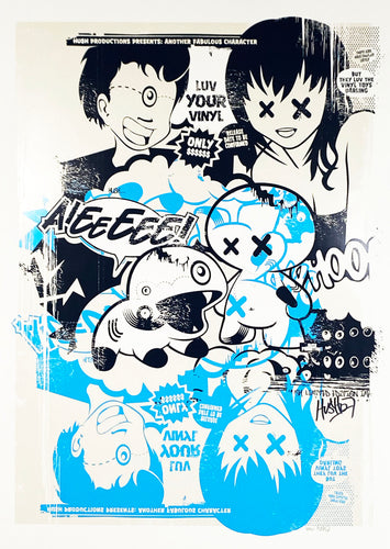 HUSH 'Luv Your Vinyl' (blue) Screen Print