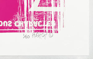 HUSH 'Luv Your Vinyl' (pink) Screen Print