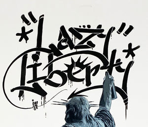ILL 'Lazy Liberty' (black) Hand-Painted Spray/Stencil on Paper
